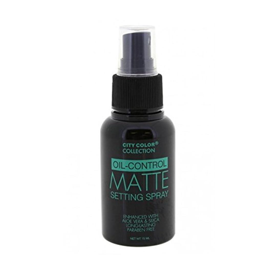 気取らないショットイタリック(3 Pack) CITY COLOR Oil-Control Matte Setting Spray (並行輸入品)