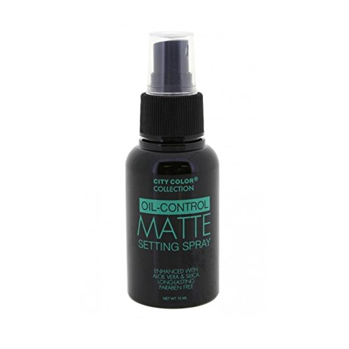 ユダヤ人計器報酬の(3 Pack) CITY COLOR Oil-Control Matte Setting Spray (並行輸入品)