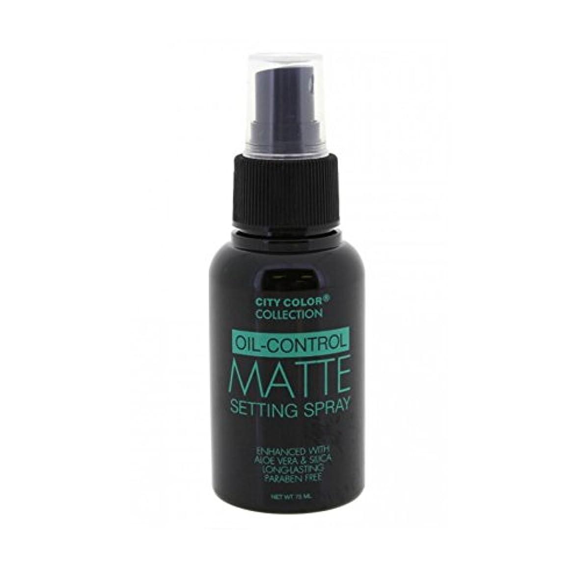 フェンス固執シンポジウム(3 Pack) CITY COLOR Oil-Control Matte Setting Spray (並行輸入品)