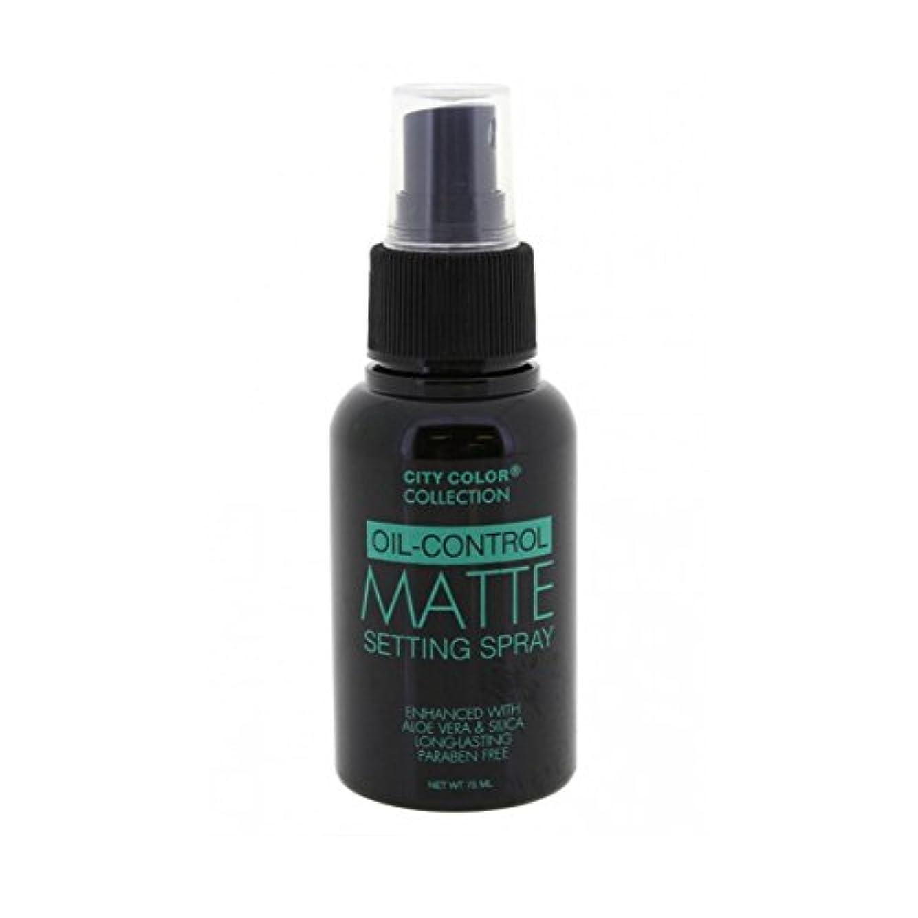 ブラストひねり環境保護主義者(3 Pack) CITY COLOR Oil-Control Matte Setting Spray (並行輸入品)