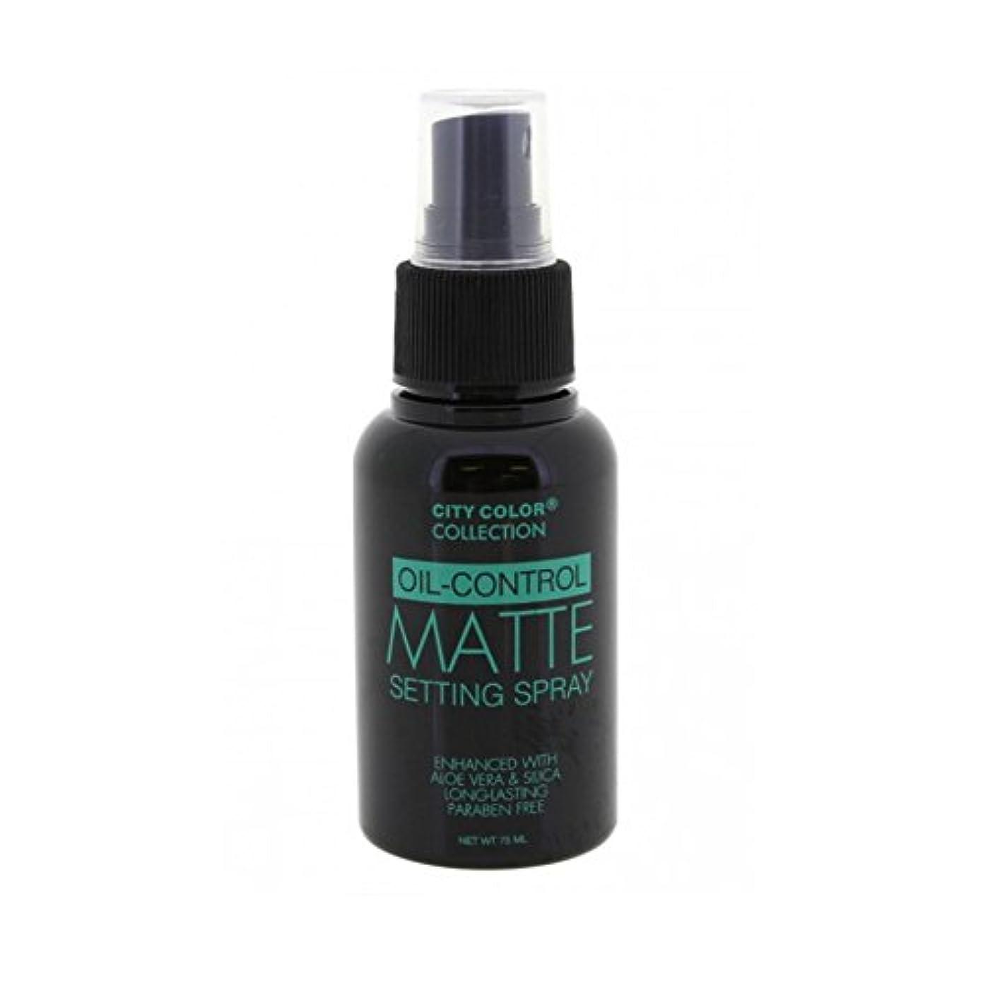 メイト勤勉刈り取る(3 Pack) CITY COLOR Oil-Control Matte Setting Spray (並行輸入品)
