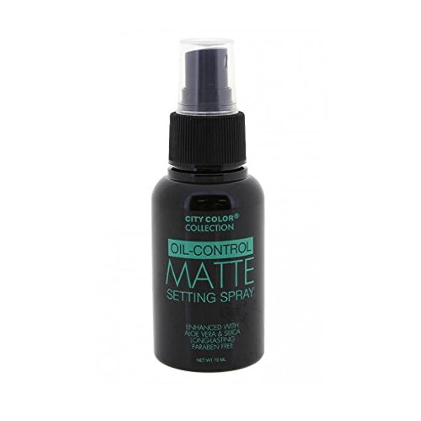 ふけるアミューズメント乞食(3 Pack) CITY COLOR Oil-Control Matte Setting Spray (並行輸入品)