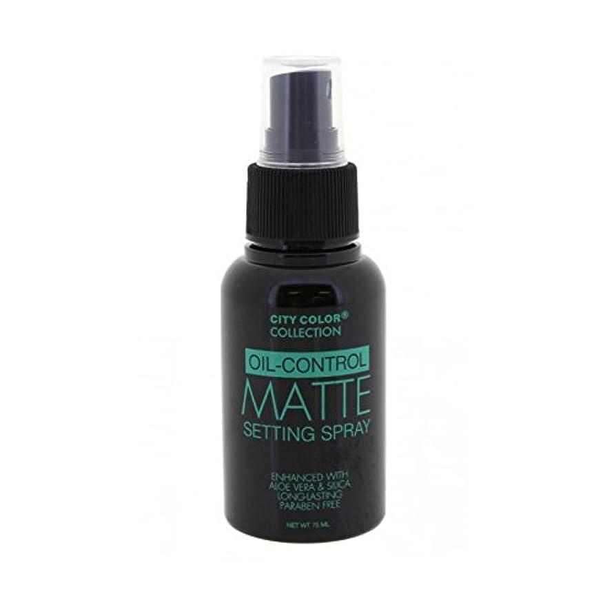 つらい馬鹿げた拷問(3 Pack) CITY COLOR Oil-Control Matte Setting Spray (並行輸入品)