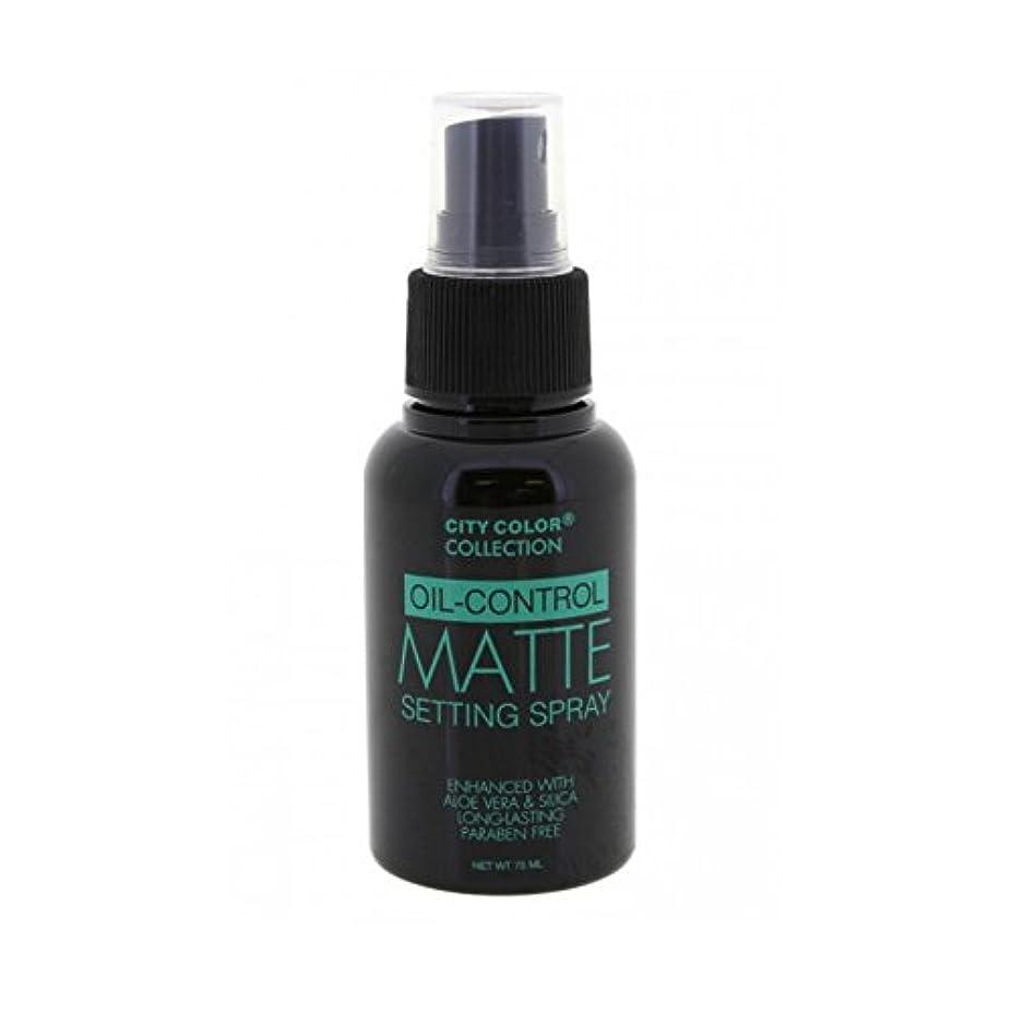 作成するスナッチ豪華な(3 Pack) CITY COLOR Oil-Control Matte Setting Spray (並行輸入品)