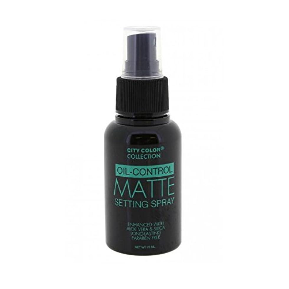 追跡レジ避難(6 Pack) CITY COLOR Oil-Control Matte Setting Spray (並行輸入品)