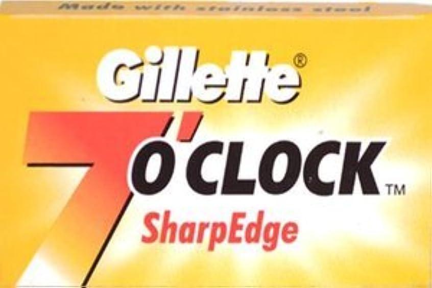 無限立方体囲いGillette 7 0'Clock SharpEdge 両刃替刃 5枚入り(5枚入り1 個セット)【並行輸入品】