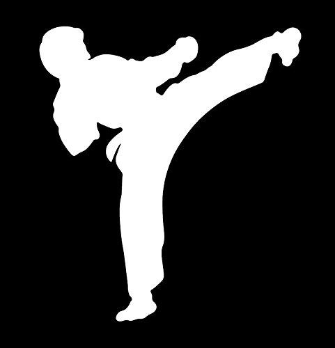 空手 カラテ からて karate キック kick スポーツ  選手 シルエット ステッカー シー...