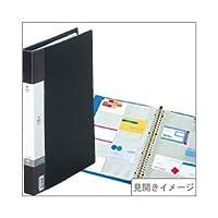 リヒトラブ 交換式名刺帳(A4タテ・30穴) 収容数:300枚 黒 ×5セット