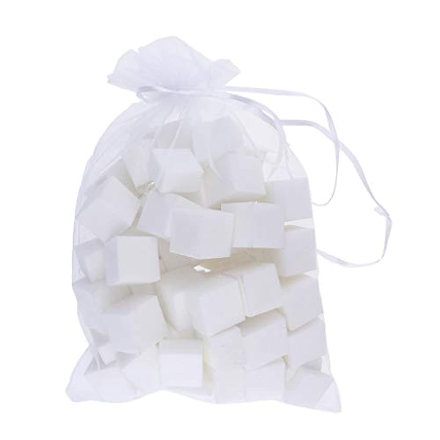 結晶メカニック虫を数える60個/パックミニネイルバッファーポリッシャーブロック4サイド - プロフェッショナル4ウェイバフマニキュアケアホワイトサンディングツールセット