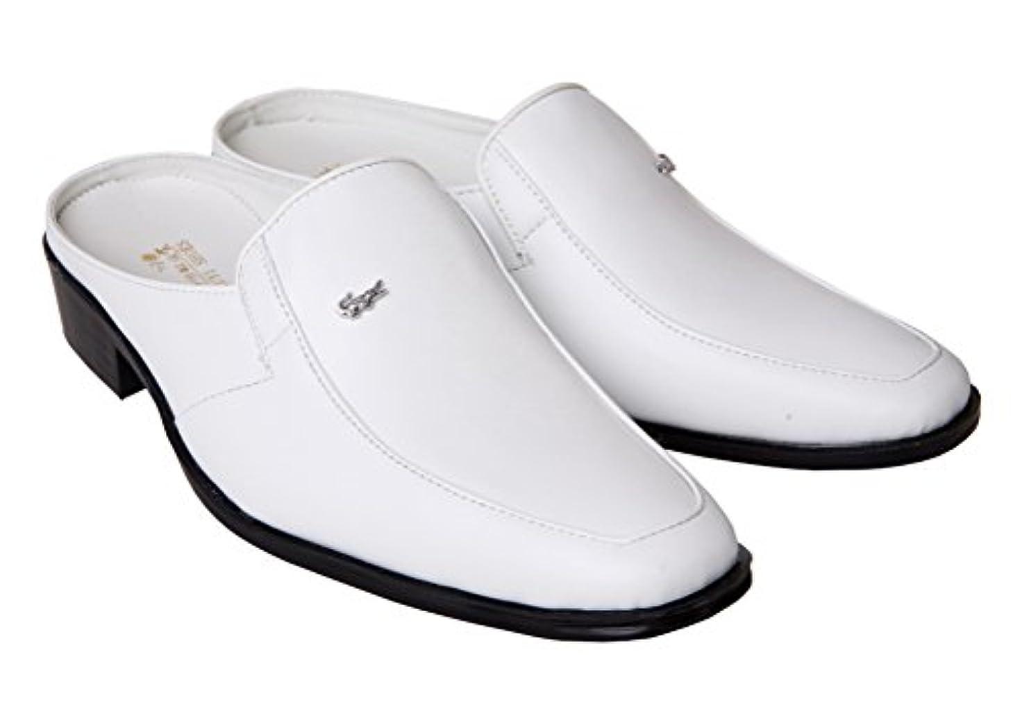 教育者コットンワードローブSufoen ビジネスサンダル メンズ スリッポン ビジネススリッパ かかとなし 革靴 紳士靴 おしゃれ …