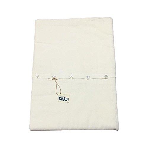 志成販売 掛け布団カバー コンフォートカバー KHADI コットン ナチュラル ボタン 215×150cm