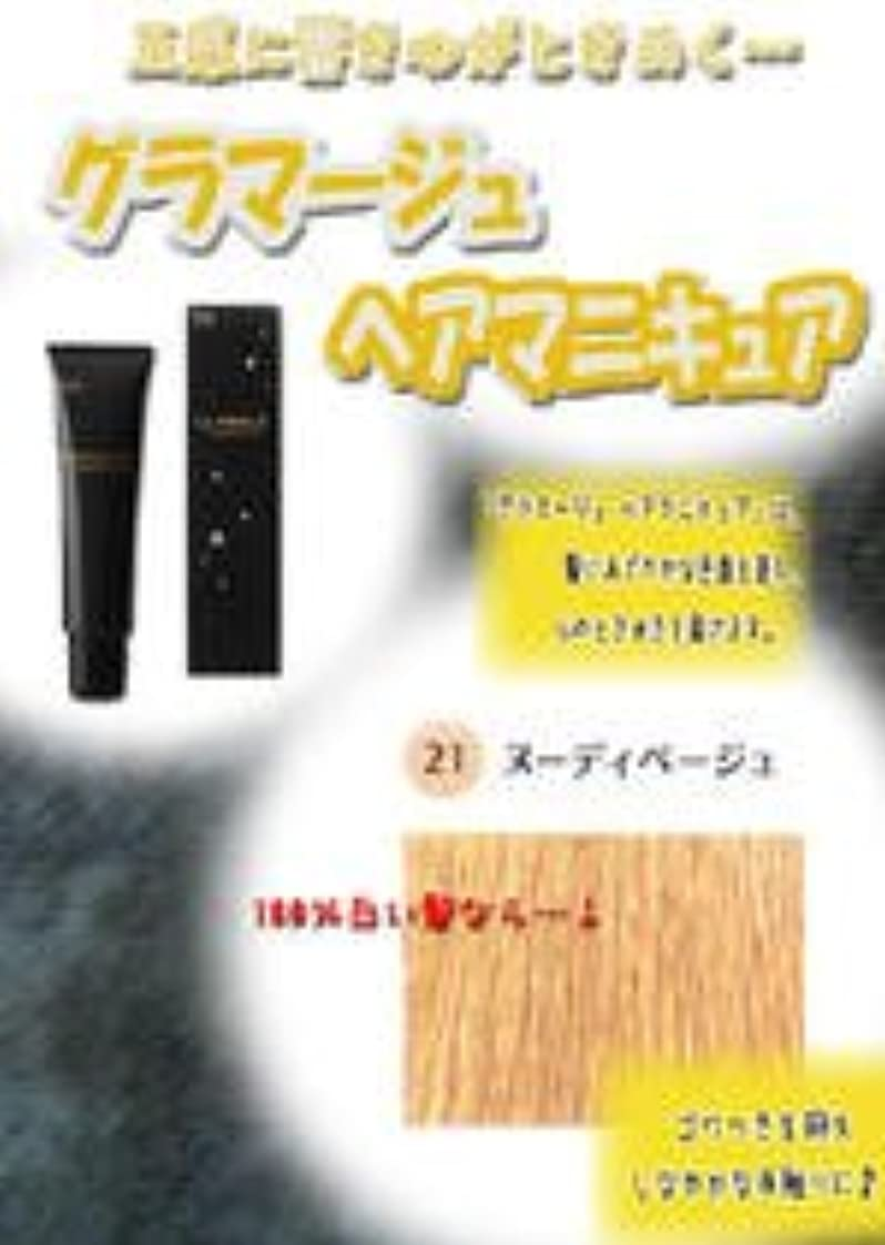 HOYU ホーユー グラマージュ ヘアマニキュア 21ヌーディーベージュ 150g 【グロス系】