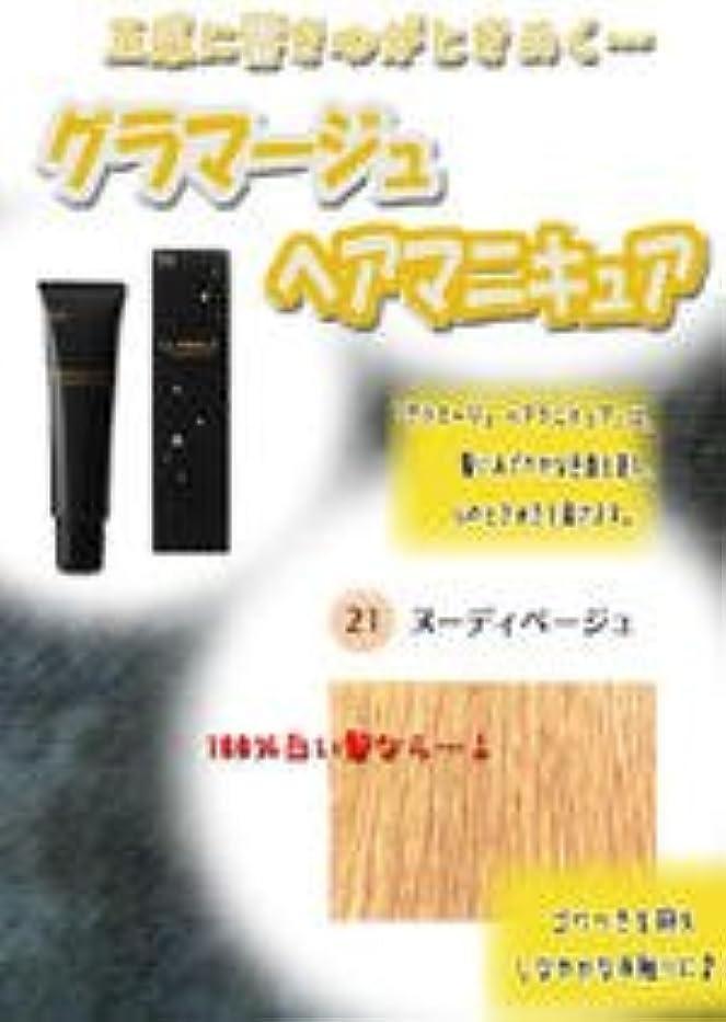 剣算術構成HOYU ホーユー グラマージュ ヘアマニキュア 21ヌーディーベージュ 150g 【グロス系】