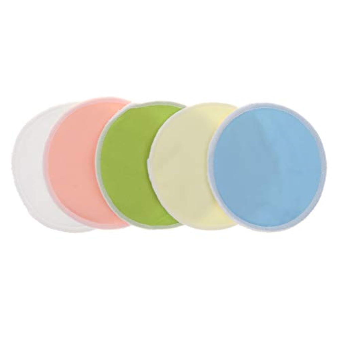 フィット奨励旋律的メイク落としコットン 胸パッド 竹繊維 クレンジング ラウンド 洗える 再利用可能 5個 全2タイプ - 01