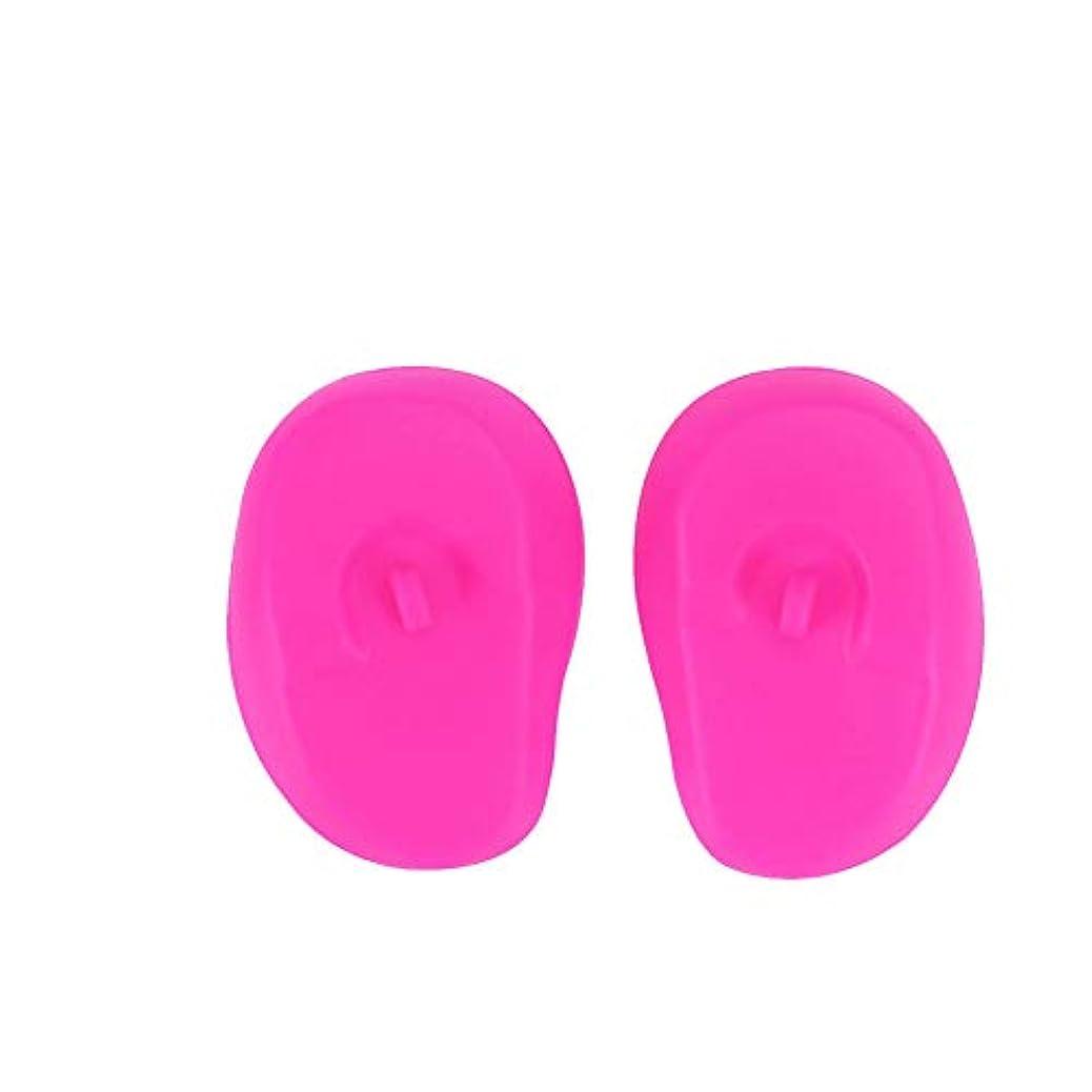 計器確保する提供するSnner セルフヘアカラーセット 毛染め用 シャワーバスシャロン1pairを着色毛髪染料の染毛剤保護防水ヘッドフォン(ピンク)のシリコーンスリーブイヤーマフイヤーマフ耳カバー
