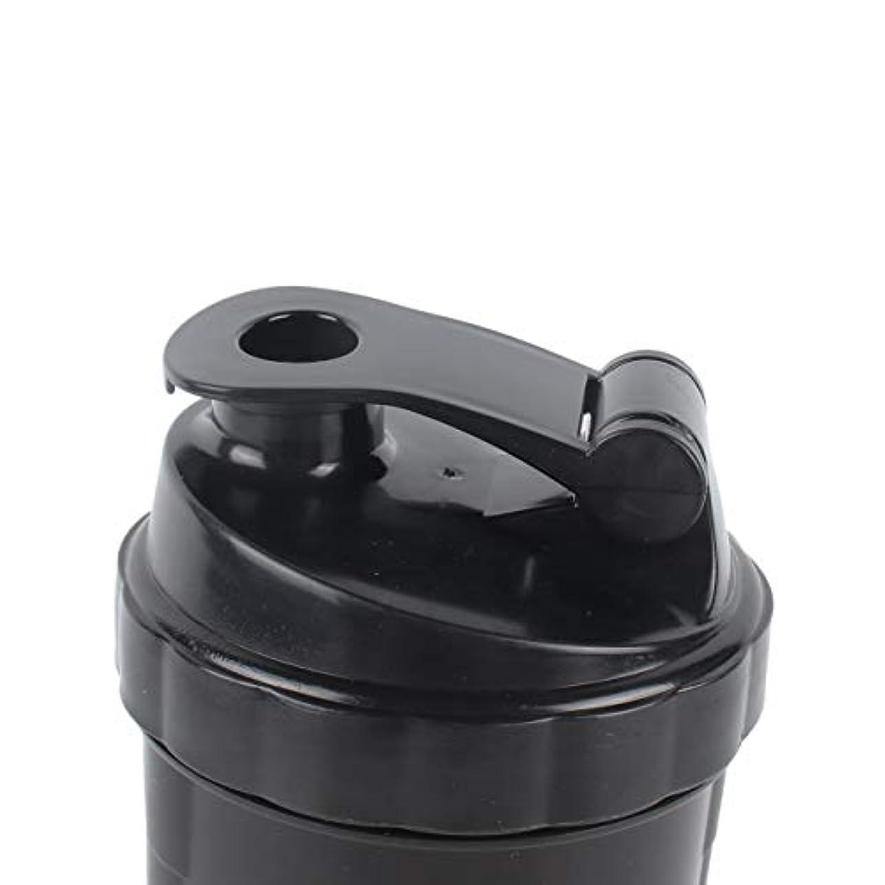 つなぐ標高少しDeeploveUU ポータブルジムプロテインシェーカーミキサーボトルポータブルスポーツランニングジョギング泡立て器ボールシェーカーボトル