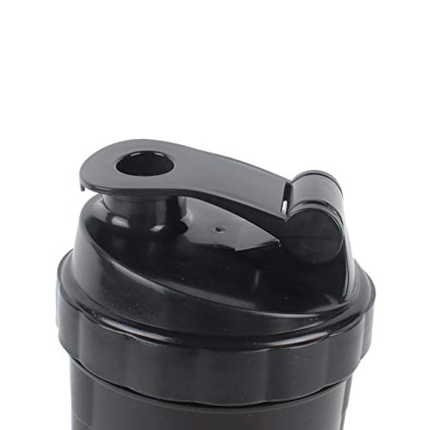 イタリック意義ベストDeeploveUU ポータブルジムプロテインシェーカーミキサーボトルポータブルスポーツランニングジョギング泡立て器ボールシェーカーボトル