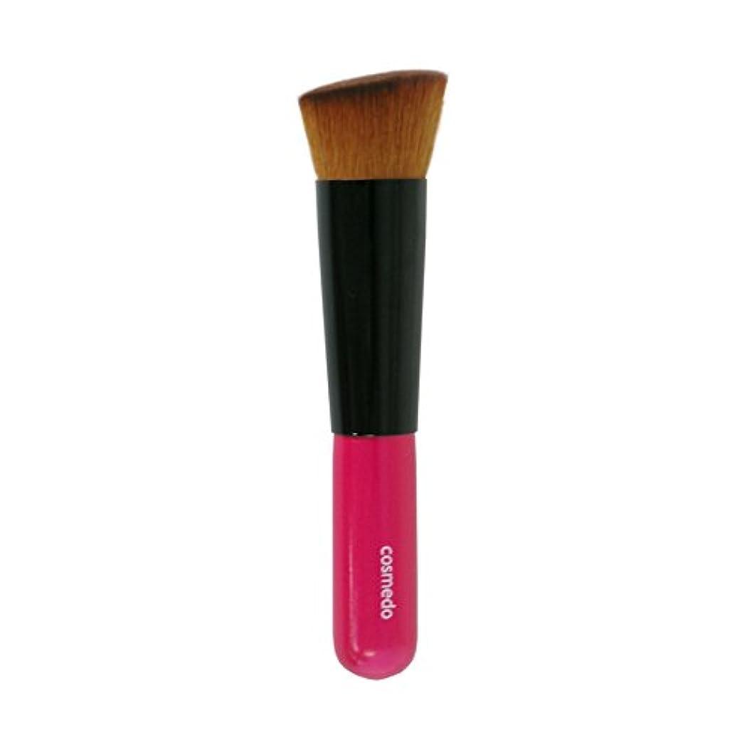広まったベッツィトロットウッド慣れている熊野筆 匠の化粧筆 コスメ堂 斜め フラット ファンデーションブラシ PBT 日本製 ( メイクブラシ フェイスブラシ/チークブラシ )PK-LQ11