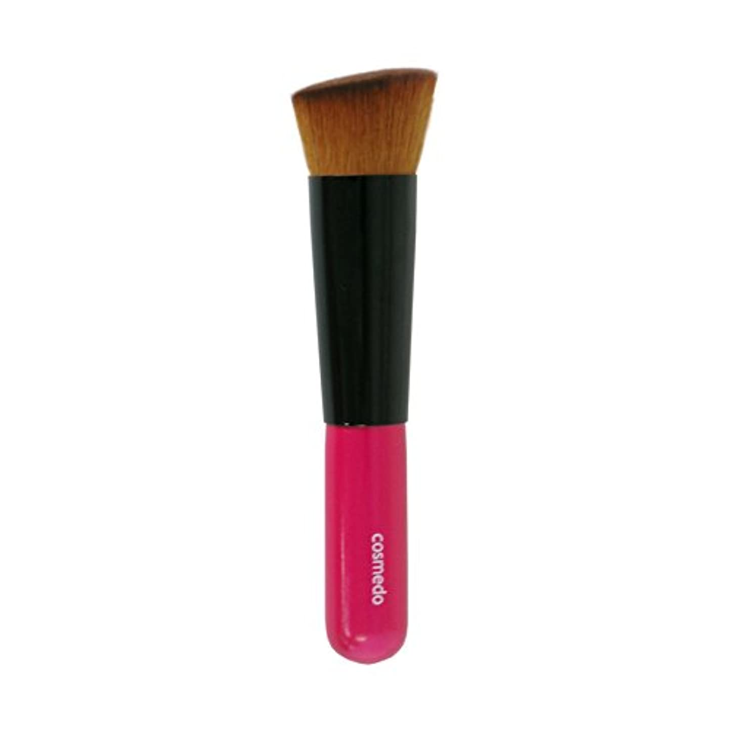 それに応じてブリリアント支援熊野筆 匠の化粧筆 コスメ堂 斜め フラット ファンデーションブラシ PBT 日本製 ( メイクブラシ フェイスブラシ/チークブラシ )PK-LQ11