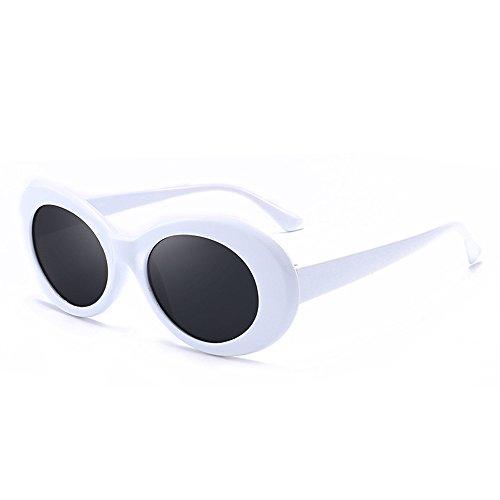 Grunge Oval Shades 【White/Smok...