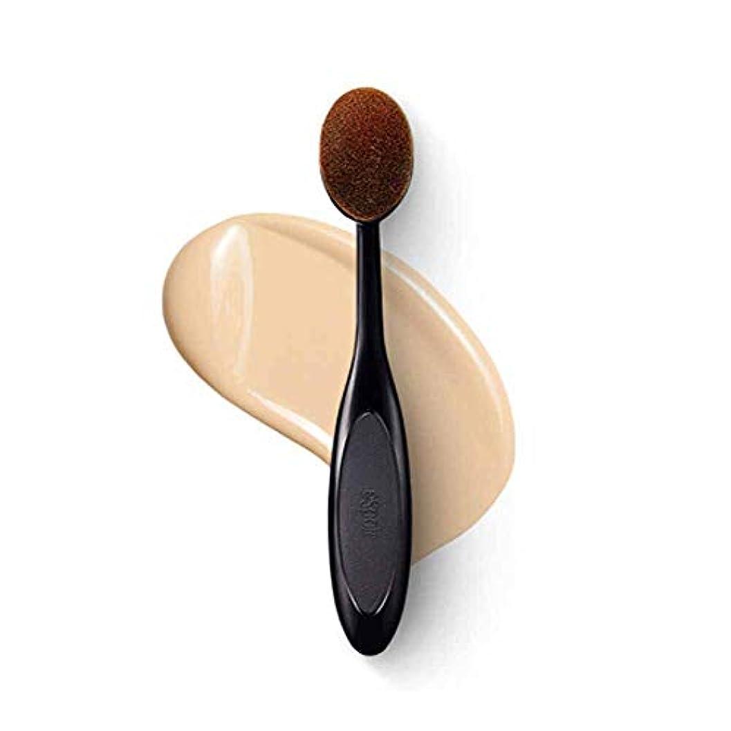 成熟した密接に水分Youshangshipin001 メイクブラシ、プロのロングハンドルファンデーションブラシ、歯ブラシの形、プロのメイクと初心者に適した、ナチュラルメイク,ブラシヘッドは繊細で柔らかい (Color : Black)