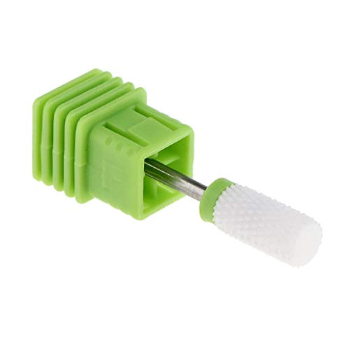 正気不一致有害Injoyo セラミックネイルドリルビット、電気ジェルネイルサロンマニキュアツールの場合は、研磨ヘッドネイルアートツールを削除するキューティクルクリーン - C