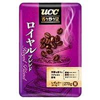 UCC 香り炒り豆 ロイヤルブレンド(豆) 270g袋×6袋入