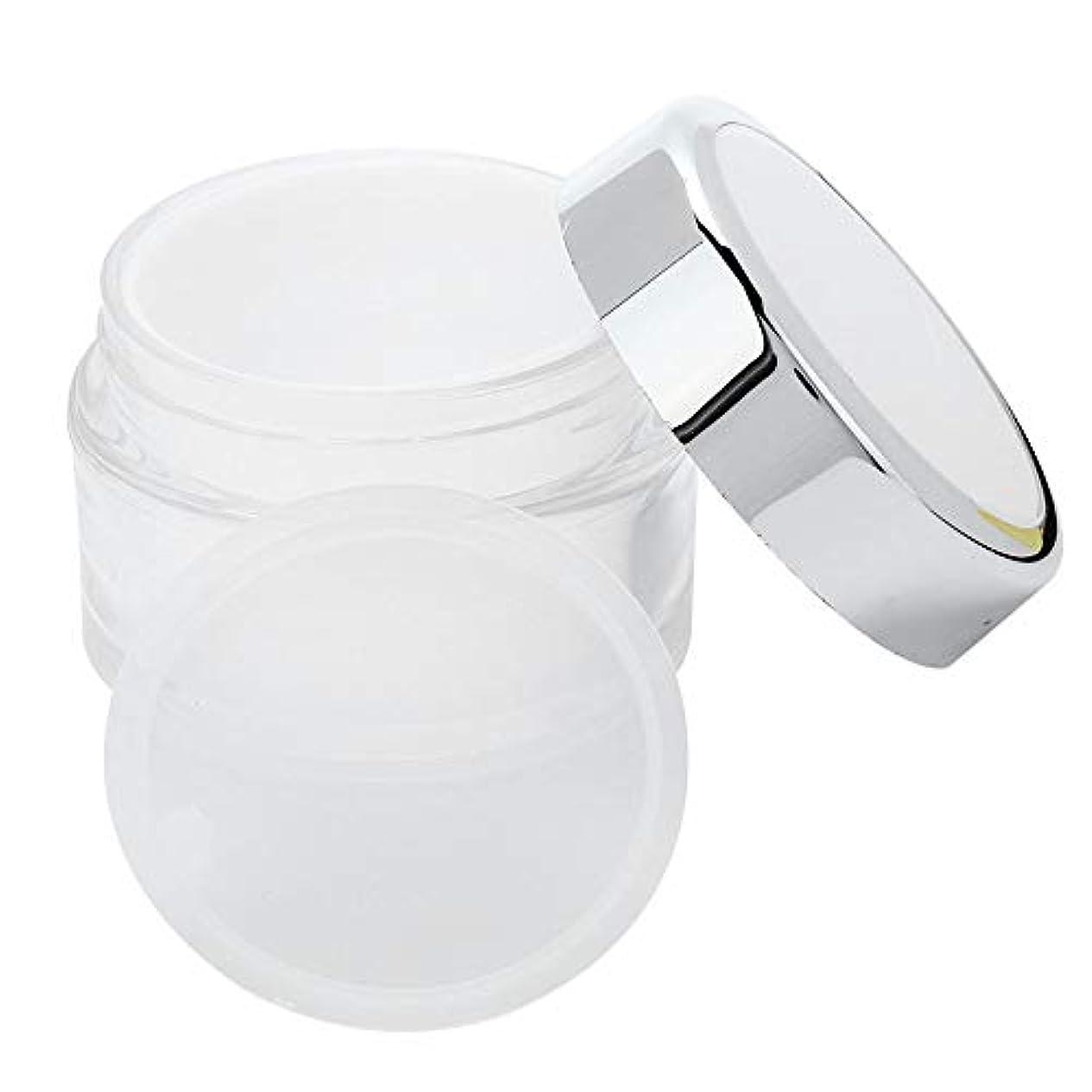 人質生息地ワーディアンケース詰め替え式 ジャーフェイスクリーム マスク 空ボトル DIY スキンケア ジェルペーストコンテナ50g