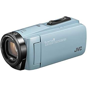 JVCKENWOOD JVC ビデオカメラ Everio R 防水 防塵 Wi-Fi 64GB内蔵メモリー サックスブルー GZ-RX680-A