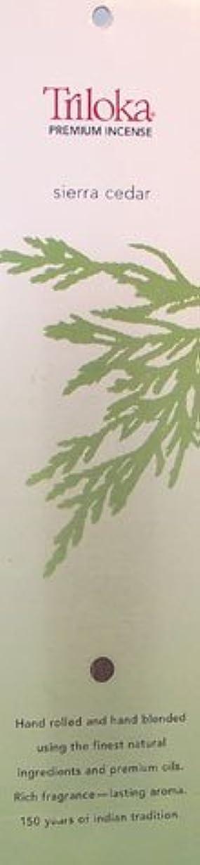 重要性帽子流体Sierra Cedar – TrilokaプレミアムIncense Sticks