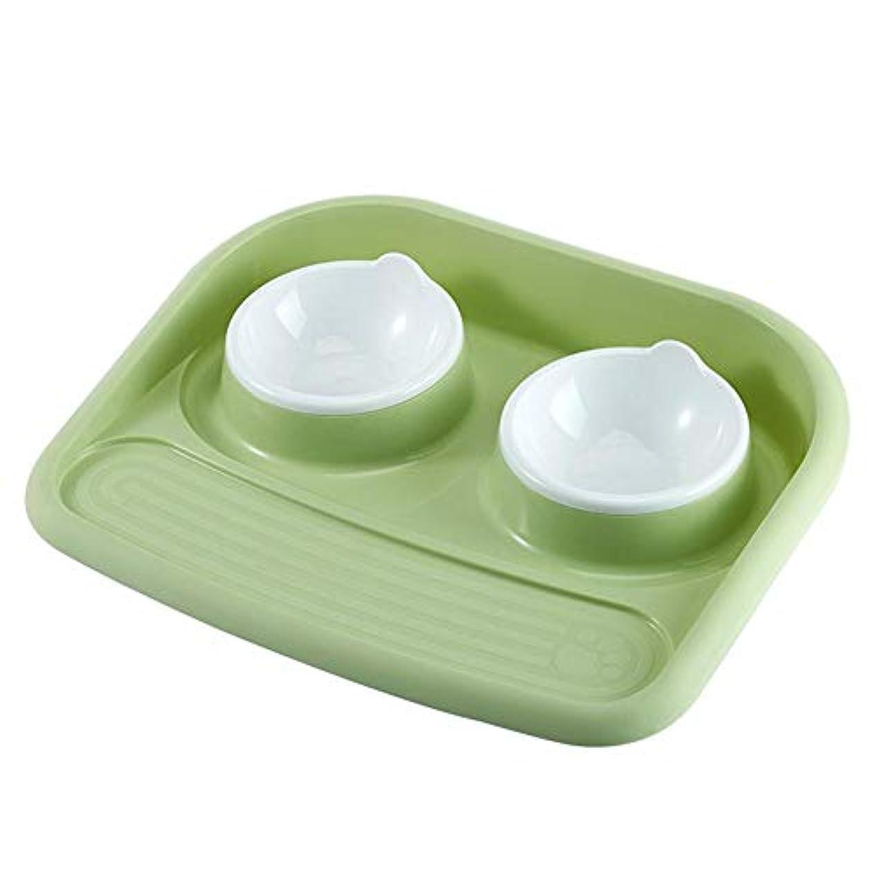 靄国籍いつでもTrendyest ペット食器 ペットボウル 給食 給水 二つのボウル 給餌/給水 水やり/餌やり 滑り止め 早食い防止食器 肥満予防食器 エサ入れ