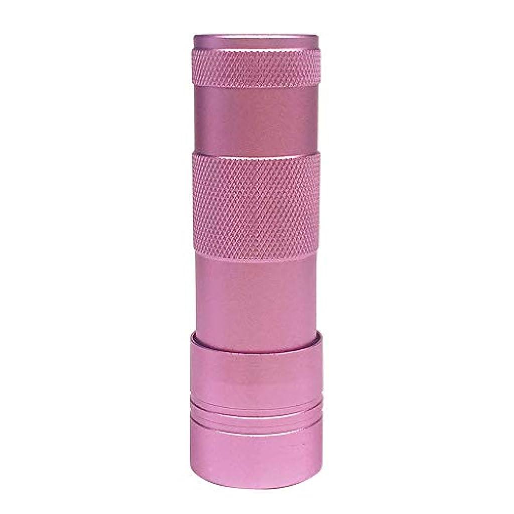 マーカーエスニック星ジェルネイル UV/LEDライト(12灯)ハンドライト ペン型 ハンディ型(ピンク)