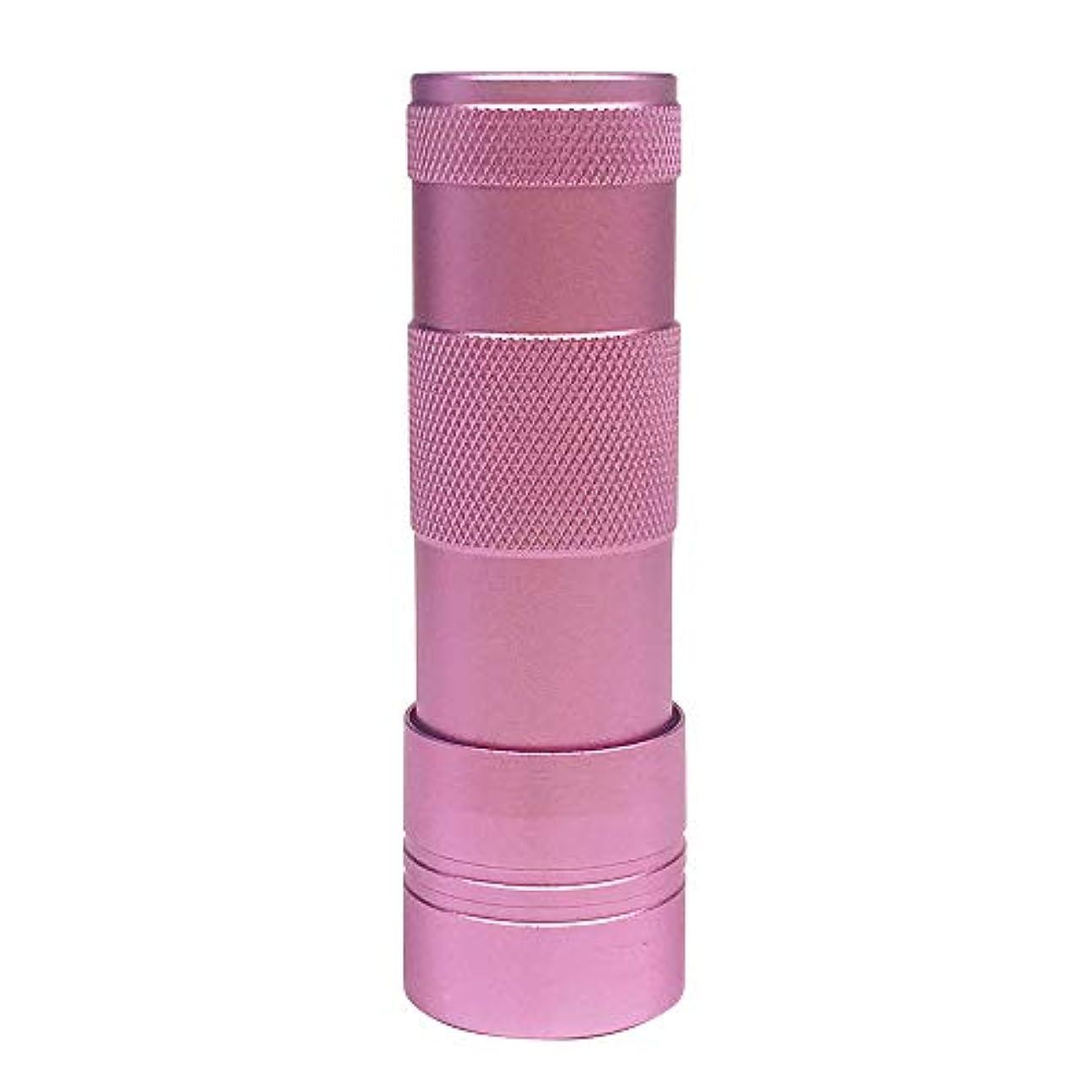 高い過半数シートジェルネイル UV/LEDライト(12灯)ハンドライト ペン型 ハンディ型(ピンク)