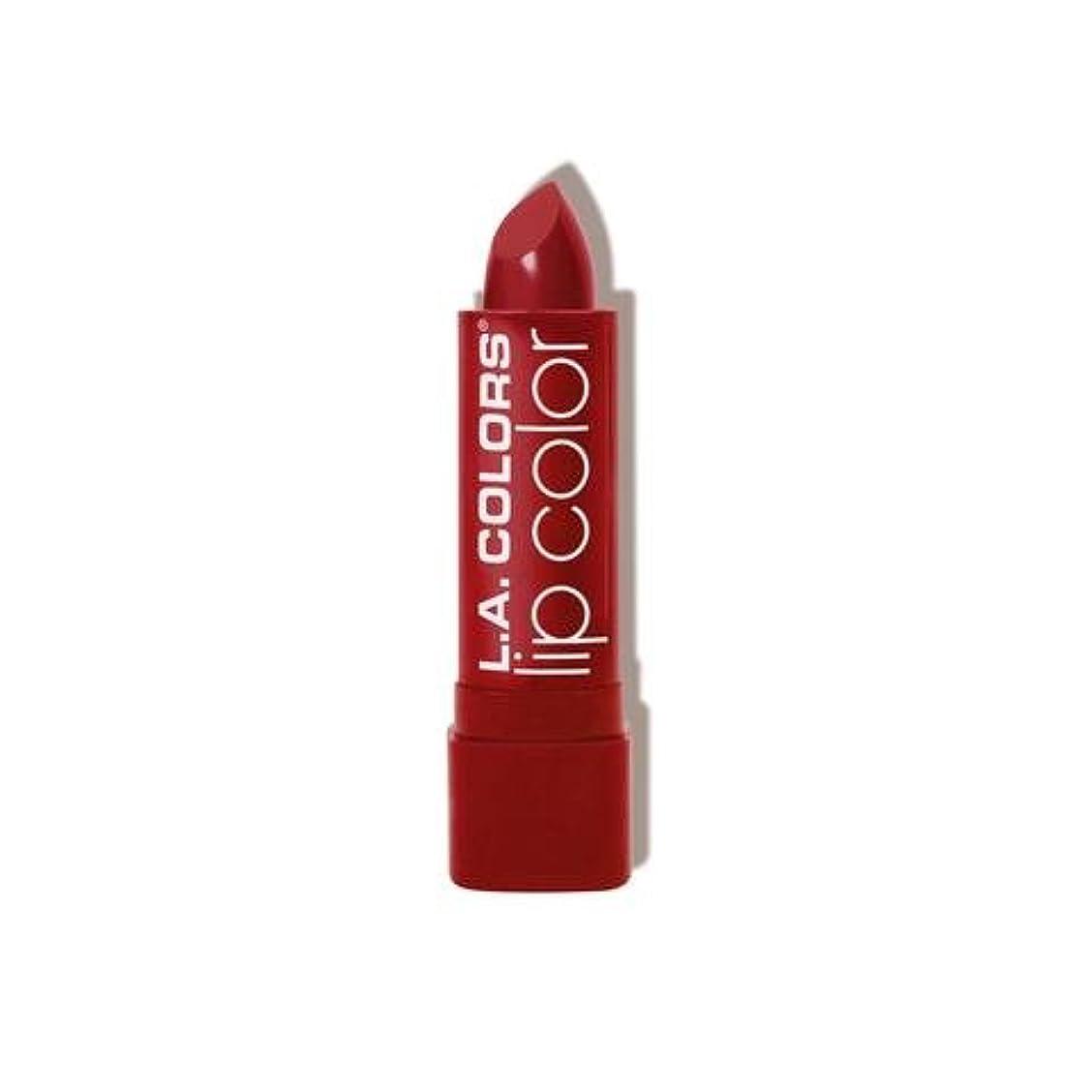 顧問役員高い(3 Pack) L.A. COLORS Moisture Rich Lip Color - Berry Red (並行輸入品)