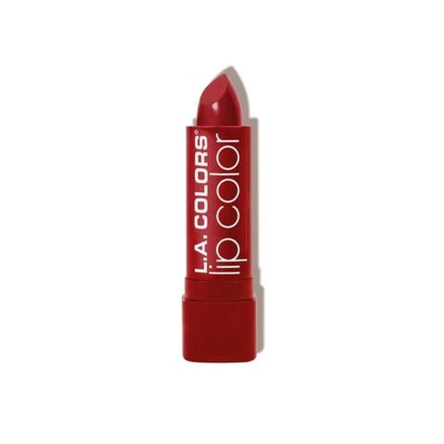 行き当たりばったり損失コミット(3 Pack) L.A. COLORS Moisture Rich Lip Color - Berry Red (並行輸入品)
