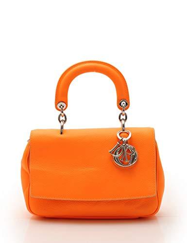 (クリスチャンディオール) Christian Dior ビーディオール ハンドバッグ レザー オレンジ 2WAY 中古