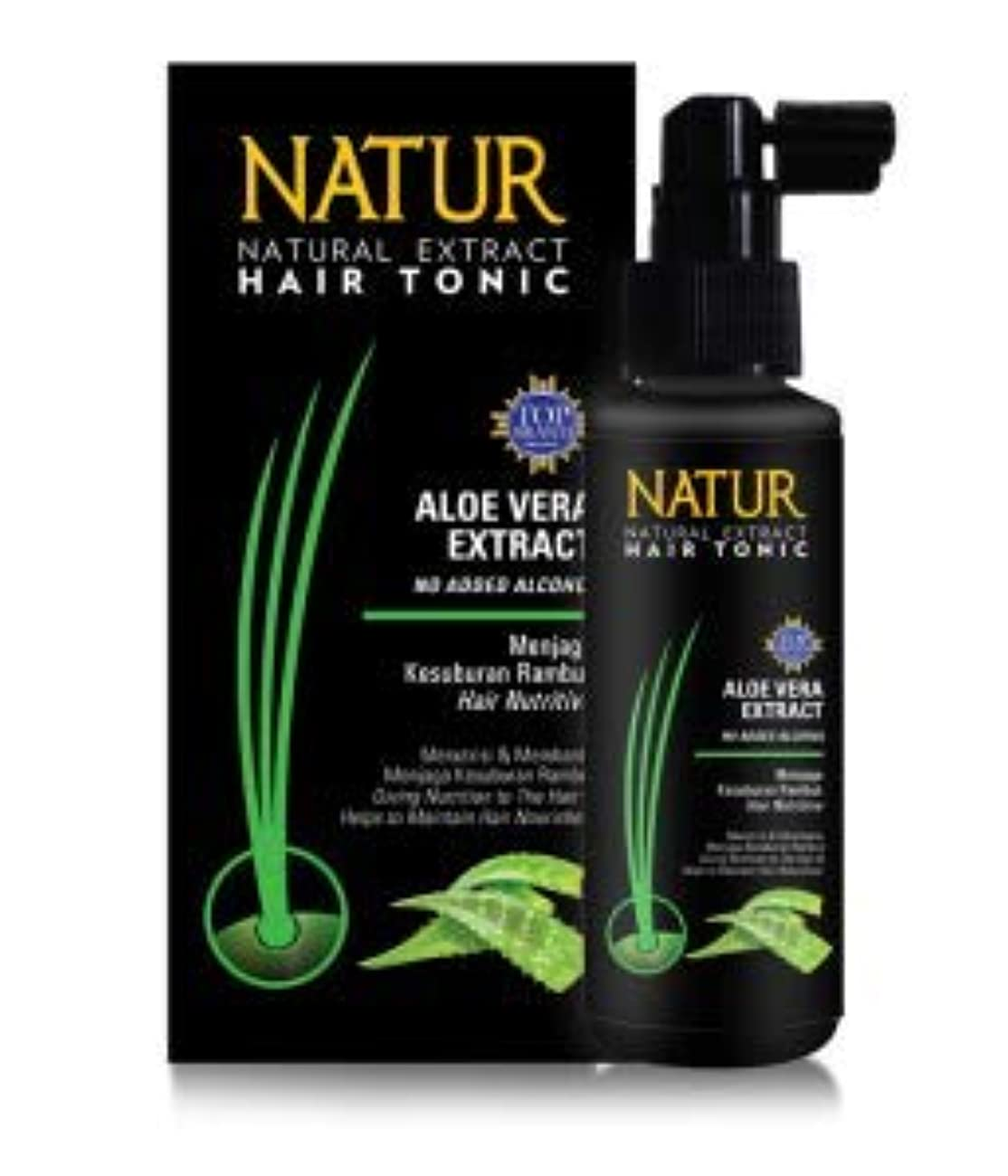 バイオリン克服する単にNATUR ナトゥール 天然植物エキス配合 Hair Tonic ハーバルヘアトニック 90ml Aloe vera アロエベラ [海外直商品]