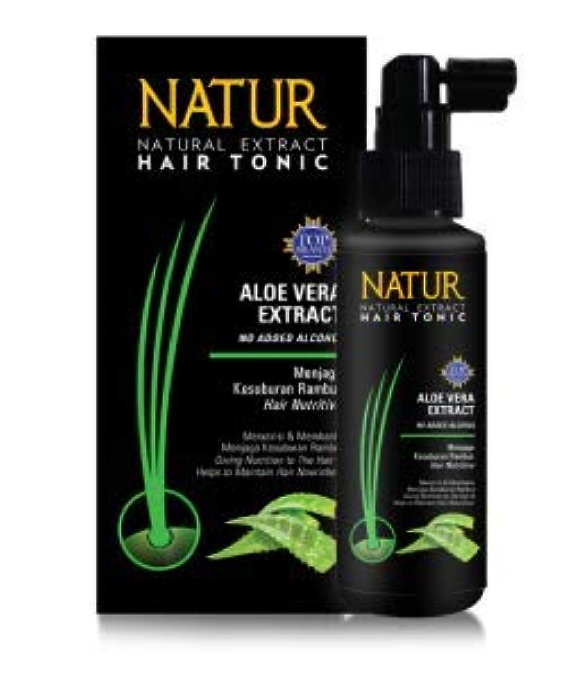 可動式イタリック促進するNATUR ナトゥール 天然植物エキス配合 Hair Tonic ハーバルヘアトニック 90ml Aloe vera アロエベラ [海外直商品]