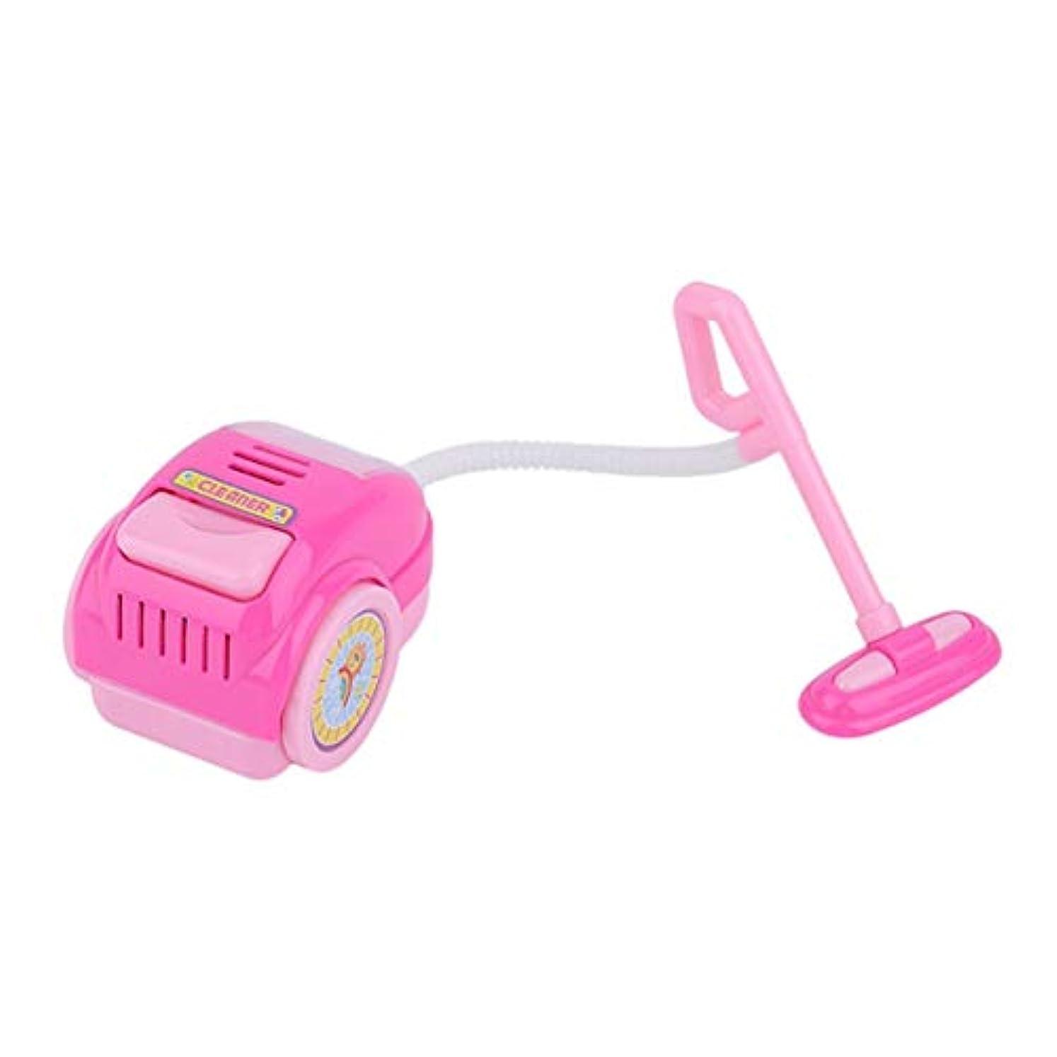 破壊すると組む暗殺者早期教育子供プレイ家のおもちゃシミュレーション掃除機ツール家庭用電化製品子供プレイおもちゃ - ピンク