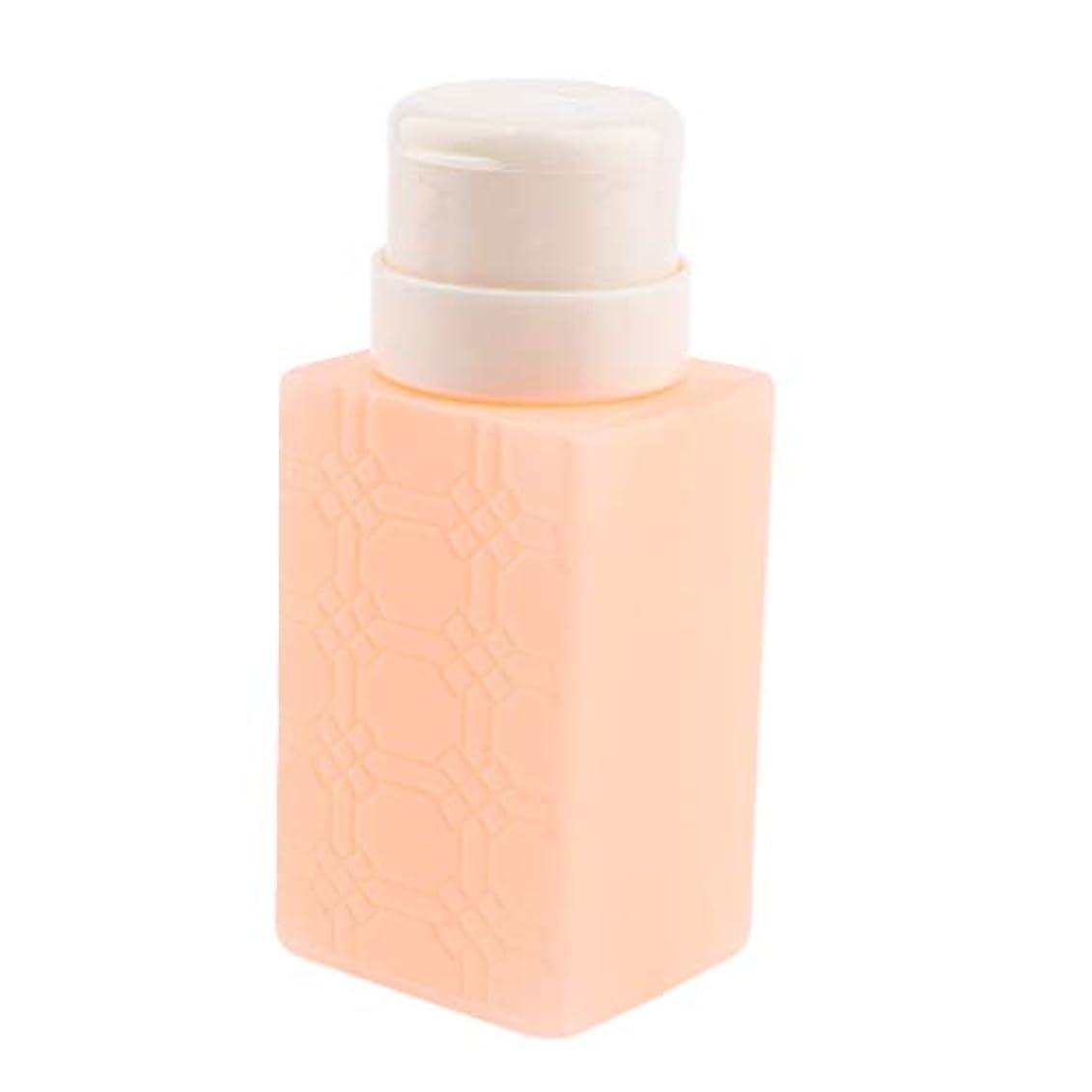 見捨てる確かめる騒F Fityle ネイルアート ディスペンサー アクリルリムーバー ポンプボトル 耐久性 4色選べ - オレンジ