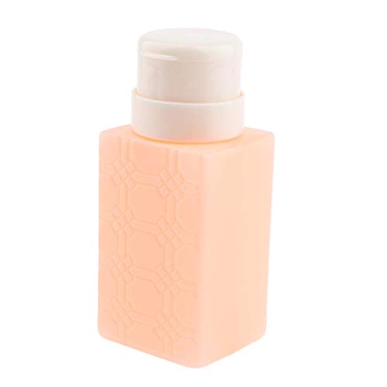 慣らすスクレーパー不明瞭ネイルアート ディスペンサー アクリルリムーバー ポンプボトル 耐久性 4色選べ - オレンジ