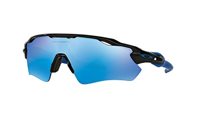 OAKLEY Radar EV Path Team Colors Sunglasses - フレームカラー: Polished Black/レンズカラー: Sapphire Iridium (OO9208-20) [並行輸入品]