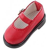 SONONIA 1/6 BJD SD DOD ドルフィー 人形の靴 2足 PUレザー シューズ アクセサリー プレゼント 全5色選べ - 赤