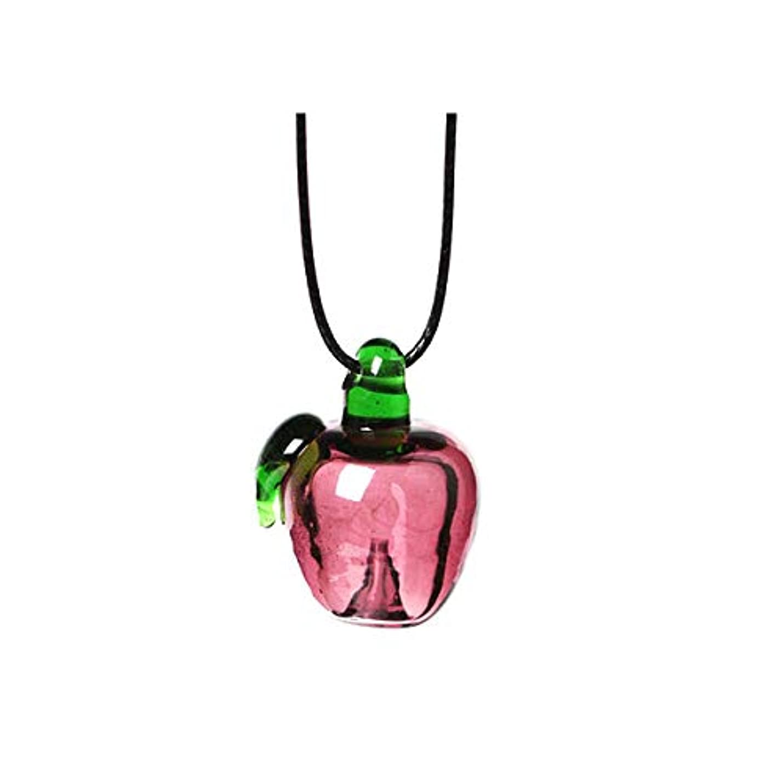 行く阻害するグラフィックアロマ ペンダント りんご 専用スポイト付 アロマテラピー アロマグッズ ネックレス 香水 香 かおり 種類,りんご【E】