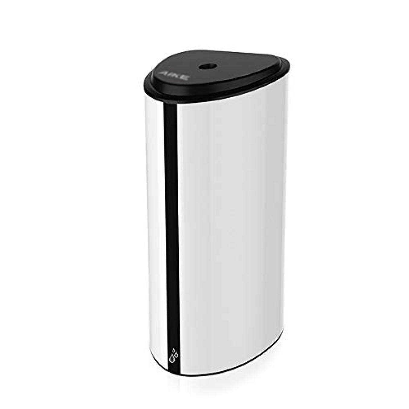 ラバ中で国歌ソープディスペンサー 800ミリリットル容量の自動ソープディスペンサーは、タッチレスバッテリーは、ハンズフリーソープディスペンサーを運営しました ハンドソープ 食器用洗剤 キッチン 洗面所などに適用 (Color : White...