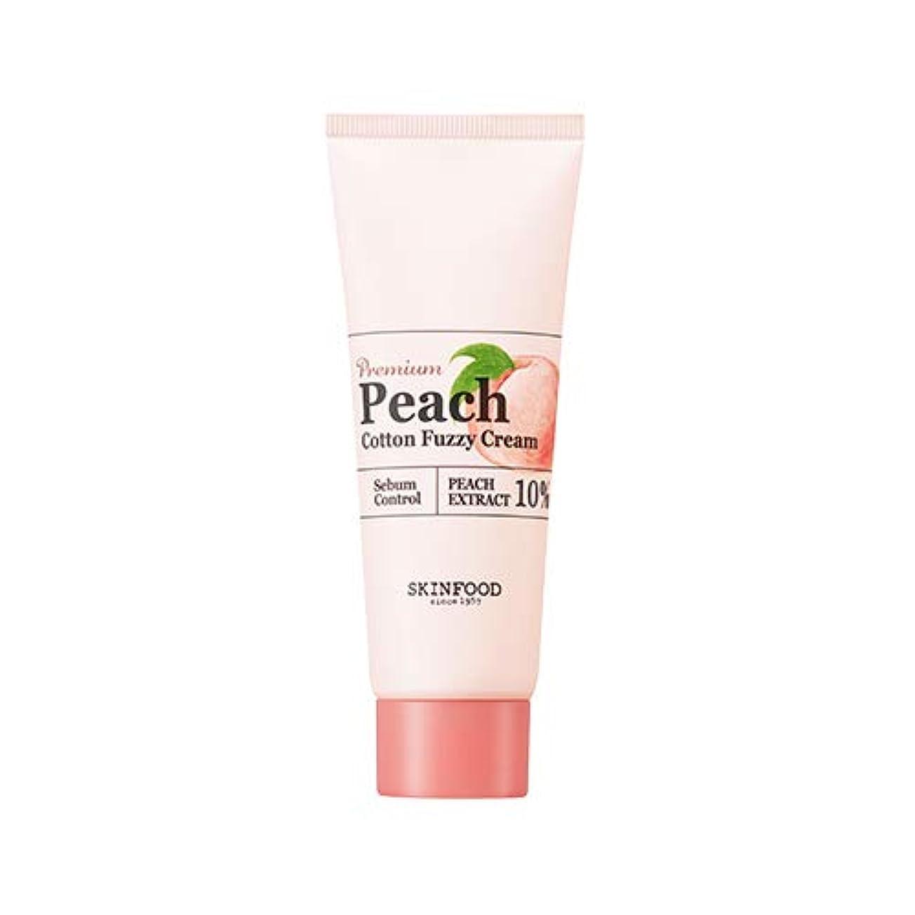 他の日余暇誠実Skinfood プレミアムピーチコットンファジークリーム/Premium Peach Cotton Fuzzy Cream 65ml [並行輸入品]