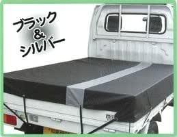 IZUMI ターポリン軽トラ用トラックシート ブラック&シルバー ワイドボディ車対応 ITL-1 黒