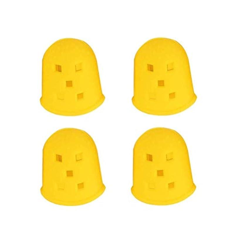 ペフ貨物私たち自身4本のギターの黄色い指先プロテクター傷に強い指保護スーツ