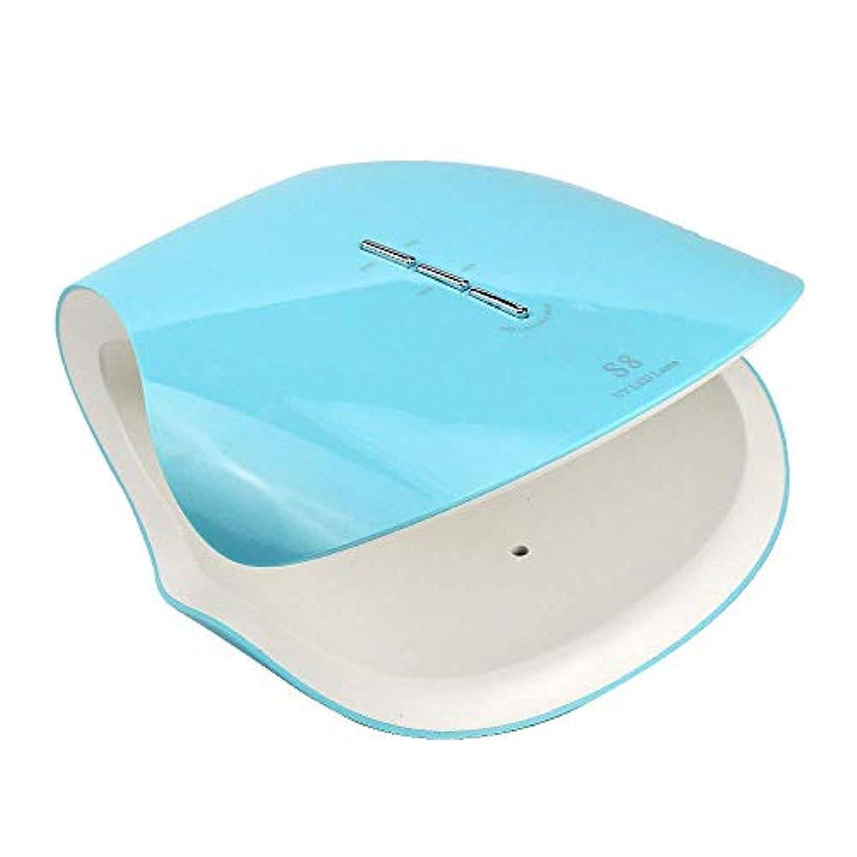 勝つクライマックス無線48ワットプロ硬化ネイルドライヤー機ネイルランプサロン機器uv ledライト療法ジェルポリッシュランプ適切なマニキュア、ブルー