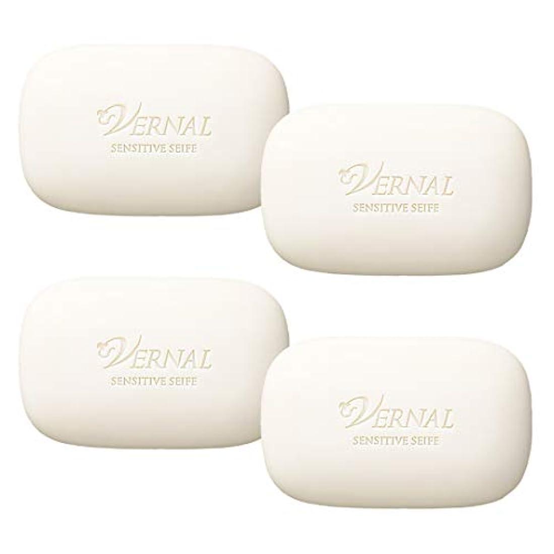 傾向がある正確さ研磨センシティブザイフ4個セット各110g/ ヴァーナル 洗顔石鹸 お得価格